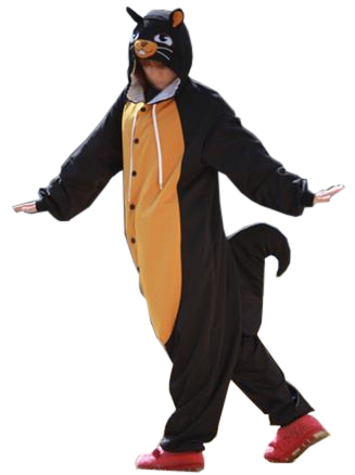 Cool Adult Black Squirrel Onesies