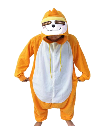 Comical Orange Sloth Onesies
