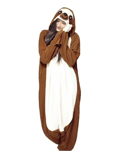 Dark Brown Sloth Onesies