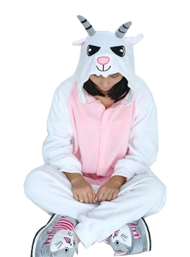 White and Pink Goat Onesies