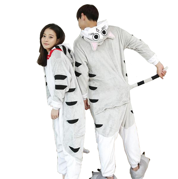 Gray Cat Pajama Onesies