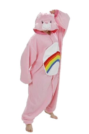 Rainbow Care Bear Kigurumi Onesies