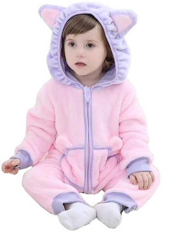 Cute Pink Baby Kitty Onesies
