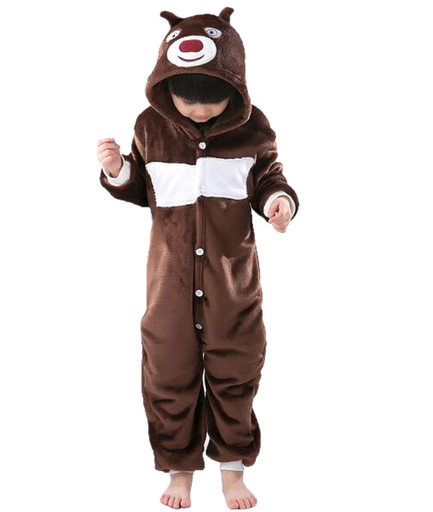Kids Brown Bear Onesies