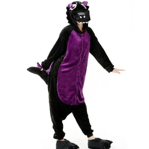 Black and Purple Dragon Onesies