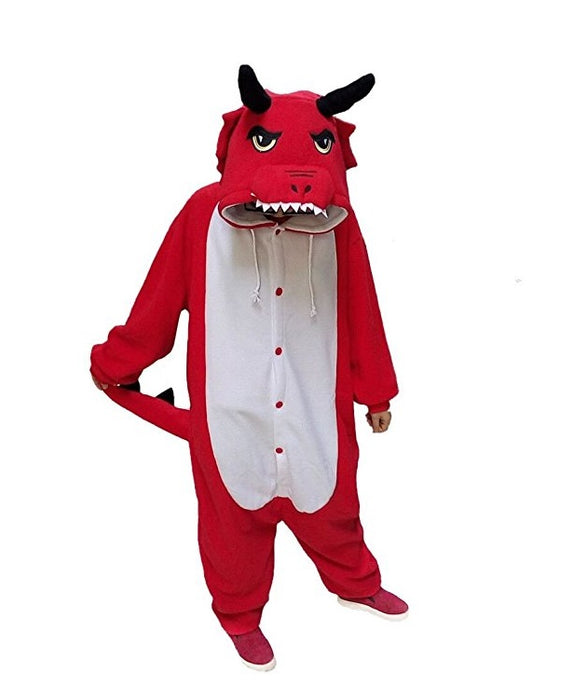 Adult Red Dragon Onesies