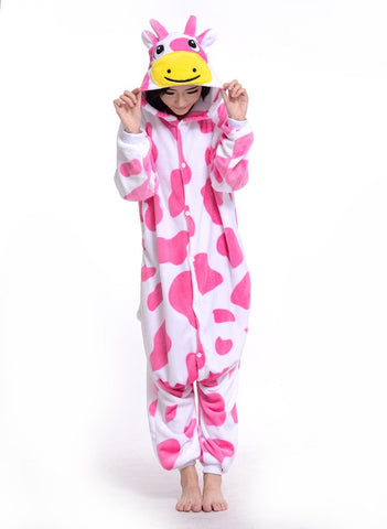 Stylish Pink Cow Onesies