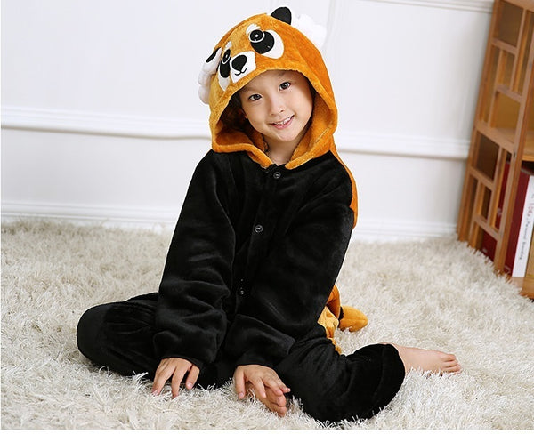 Kids Brown Raccoon Onesies