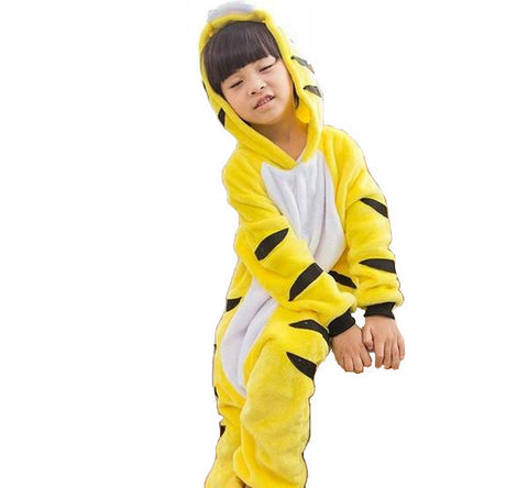 Kids Yellow Tiger Onesies