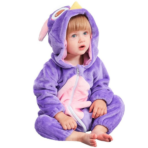 Cute Purple Baby Owl Onesies