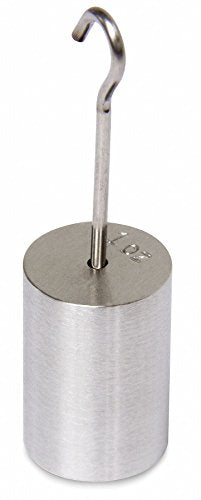 1 oz. Calibration Weight, Hook Style, Class 6, Traceable - Accredited, Stainless Steel