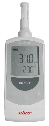 Ebro TFH 610 ABS Internal Sensor Hygrometer with Air Probe, 0 to +50 Degrees C Temperature Range