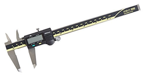 Mitutoyo 500-197-30 Absolute Digital Caliper, Stainless Steel, LCD Display, Inch/Metric, Range: 0-8