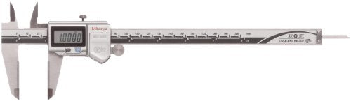 Mitutoyo 500-734-10 Absolute Digital Caliper, Stainless Steel, Battery Powered, Inch/Metric, 0-8