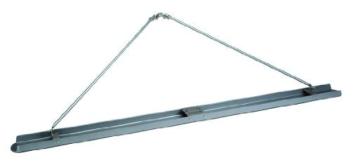 MARSHALLTOWN The Premier Line CB120DE 120-Inch Double Edge Magnesium Channel Bull Float with Outriggers Round End