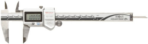 Mitutoyo 500-737-10 Absolute Digital Caliper, Stainless Steel, Battery Powered, Inch/Metric, 0-6