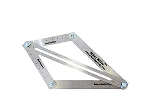 Mitey Miter Miter Saw Bevel Gauge - Protractor Angle Finder8211; Crown Molding Jig8211; Construction Layout Tool