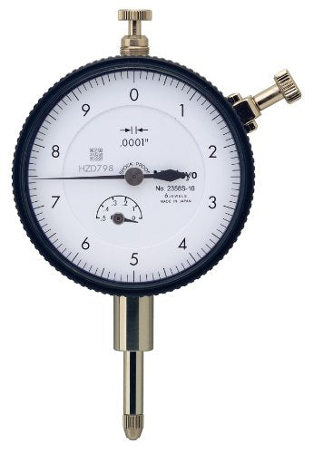 Mitutoyo 2358S-10CAL Dial Indicator with Calibration, 4-48 UNF Thread, 3/8