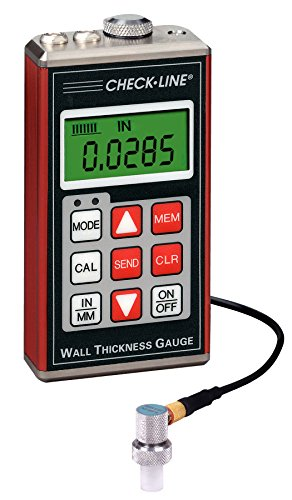 TI-007DL Precision Ultrasonic Wall Thickness Gauge with Datalogging, Range 0.0060 - 1.000