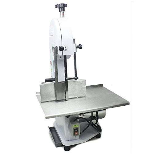 TZ Commercial 1100W Electric Meat Band Saw Bone Sawing Machine/Slicer for cutting frozen meat, Sawing pig's trotters, beefsteak with saw blade (220V/50HZ)