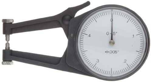 Mitutoyo 209-788 Caliper Gauge, Pointed Jaw, White Face, 2-40