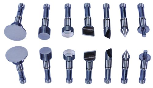 Mitutoyo 116-800 Interchangeable Anvils Set For Pana Micrometer, 7 Pieces
