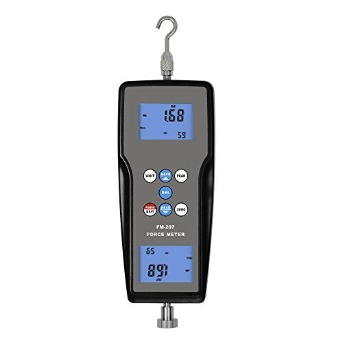 VETUS INSTRUMENTS FM-207 Digital Force Gauge Dynamometer Measuring Instruments Push pull force meter Force Gage Tools and Equipment with Digital Force Gauge Meter Tester Push Pull Gauge , Grey