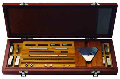 Mitutoyo 516-611, Square Gage Block Accessories Set, Metric, 27 Pieces, w/Wood Case