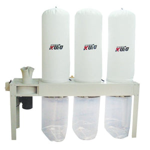 Kufo Seco UFO-103H, 5HP, 3phase 220/440 (Prewired 220V) 3990 CFM Bag Dust Collector