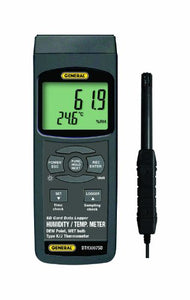 General Tools DTH3007SD Data Logging Thermo-Hygrometer with Excel Formatted SD Card