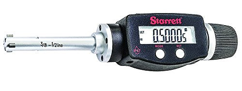 Starrett 770XTZ-500 Electronic Digital Internal Bore Micrometer, SPC output, 3/8-1/2