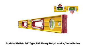 "Stabila 196 Level Set Kit - 78""/58""/32""/24""/16"" Torpedo and Case"