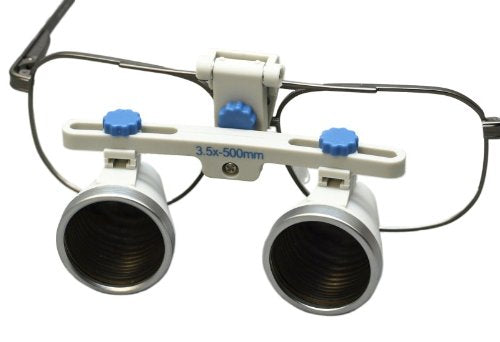 Dental Surgical Loupes, 3.5x, 500mm working distance, Alloy Frame