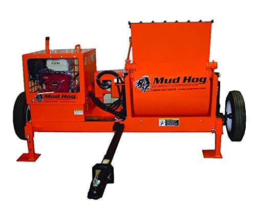 9cf Gas-Powered Mud Hog, Hydraulic Mixing Station with Axle