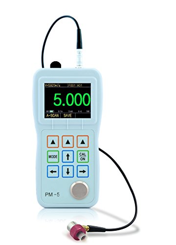 PM-5 High Precision Ultrasonic Thickness Gauge 0.001mm Resolution with E-E mode Echo-Echo