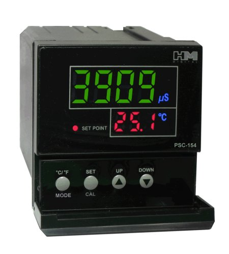 HM Digital PSC-154 TDS/EC Controller with 4-20mA Output, 0-9999 µS Measurement Range, 0.1 µS/ppm Resolution, +/-2% Readout Accuracy