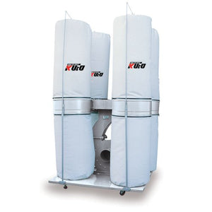 Kufo Seco UFO-105D, 7.5 HP, 3phase 220/440V (prewired 220V) 5,260 CFM Bag Dust Collector
