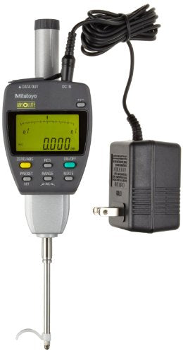 Mitutoyo 543-557A Absolute LCD Digimatic Indicator ID-F, with Back-Lit LCD, M2.5X0.45 Thread, 8mm Stem Dia., 0-50mm Range, 0.001mm Graduation, +/-0.003mm Accuracy