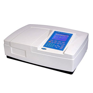 UV-8000A Double Beam UV/VIS Spectrophotometer Ultraviolet Visible Spectrophotometer 190-1100nm Wavelength Range 1nm Bandwidth ±0.3nm Wavelength Accuracy with PC Software