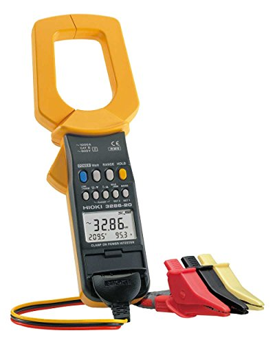Hioki HiTester 3286-20 Power Clamp-Meter, 1,000A AC, Conductors to 55mm, Voltage, Frequency, and Power Measurement