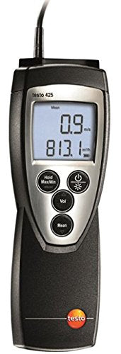 Testo 0560 4251 ABS CFM Hot-Wire Anemometer, 9V Battery