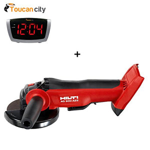 Toucan City LED Alarm clock and Hilti 22-Volt Lithium-Ion Cordless 5 in. Angle Grinder AG 500 Tool Body 2146907