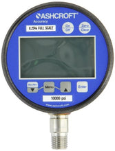 "Ashcroft Type 2074 Stainless Steel Case Dry Filled Digital Pressure Gauge, Stainless Steel Socket and Sensor, 3"" Dial Size, 1/4"" NPT Lower Connection, 0/10000 psi Pressure Range"