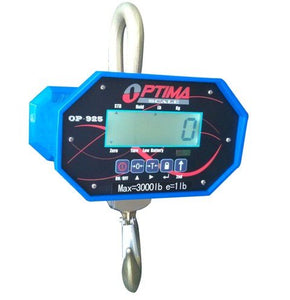 Optima Scales OP-925B-10000 Heavy-Duty Crane Scale - 10000 lbs x 5 lb. LCD Display