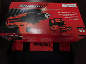 "Snap-On 18 Volt Lithium 1/2"" Drive Red Cordless Drill Kit, Part #CDR7850H"