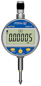 "Fowler-Sylvac Mark VI Electronic Indicator with 8mm Stem, 54-530-156-0, 0.00016"" Accuracy, Measuring Range  0-1""/25mm, Resolution 0.00005""/0.001mm"