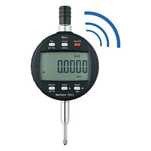 "Mahr Federal 4337624 1086 Ri Reference Wireless or Wired Digital Indicator, 0.5"" (12.5 mm) Range, Selectable Resistance 0.00002"" (0.0005 mm), 8 mm Stem, Black"
