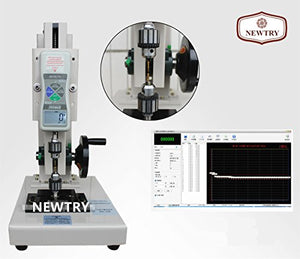 NEWTRY ZQ-21A-10 Manual High Precision Universal Force Testing Stand/Press And Tension Tester/Force Gague With A Push Pull Meter For Toothbrush Hairy Bundles (with a 50N Push Pull Meter)