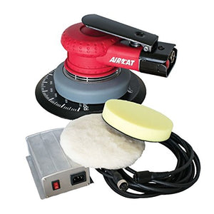 "AIRCAT 6700-DCE-6 6"" Dc Electric Sander/Polisher, Small, Red"
