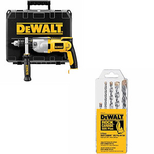 "DeWalt DWD520K 1/2"" Hammerdrill Kit w/DW5470 5 Pc Rock Carbide Plus Drill Bit"
